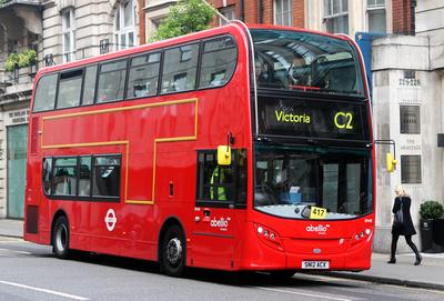 Route C2, Abellio London 9540, SN12ACX, Portland Place
