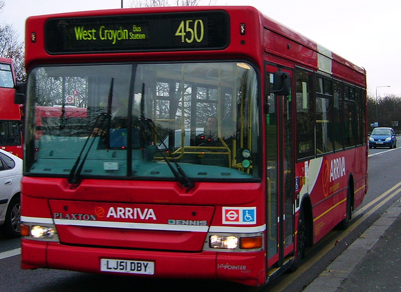 Route 450, Arriva London, PDL57, LJ51DBY, Crystal Palace