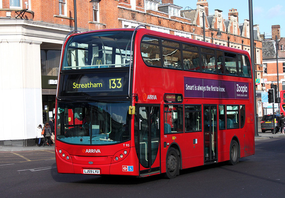 Route 133, Arriva London, T95, LJ59LYU, Brixton
