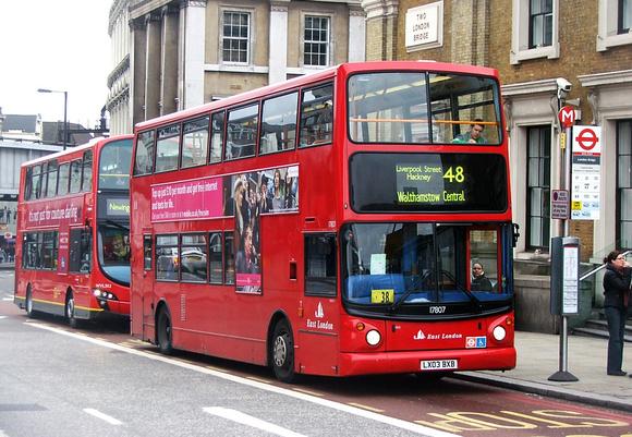 London Bus Routes Route 48 London Bridge Walthamstow
