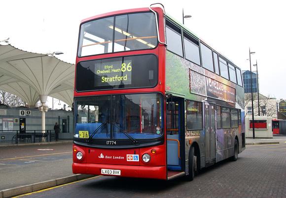 Route 86, East London ELBG 17774, LX03BVK, Stratford