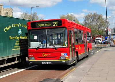 Route 39, Go Ahead London, LDP216, SK52MOU, Putney Bridge
