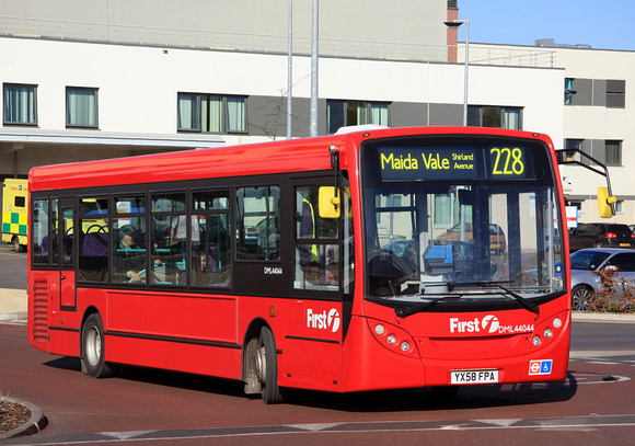 Route 228, First London, DML44044, YX58FPA, Central Middlesex Hospital
