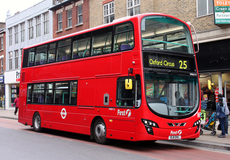 London Bus Routes Route 25 Ilford Oxford Circus