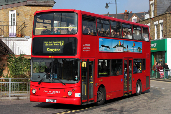 Route 131, London United RATP, TA244, LG02FBL, Wimbledon