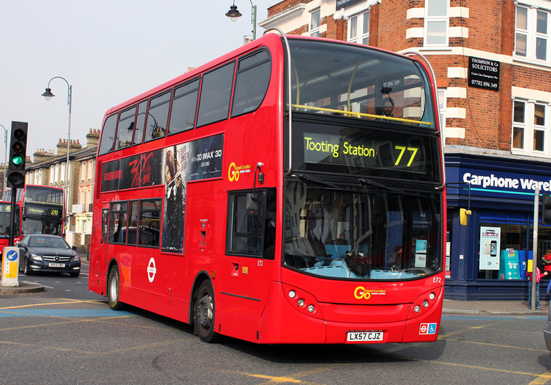 London Bus Routes Route 77 Tooting Station Waterloo