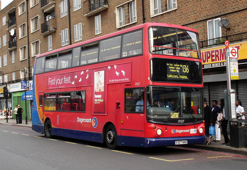 London Bus Routes Route 136 Elephant Amp Castle Grove Park
