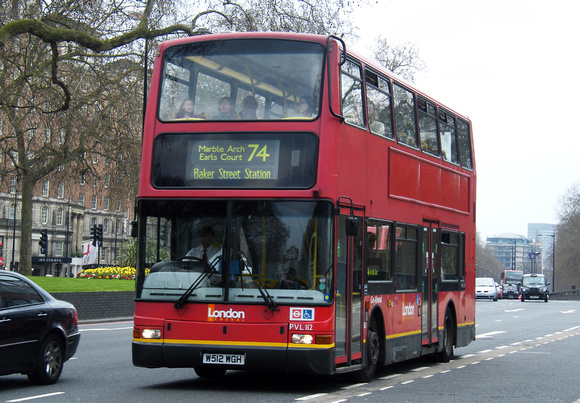 Route 74, London General, PVL112, W512WGH, Marble Arch