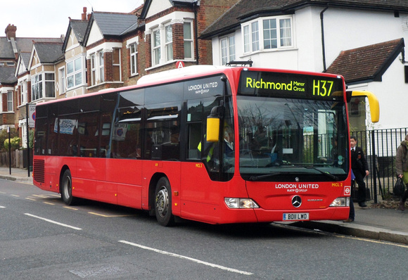Route H37, London United RATP, MCL2, BD11LWO