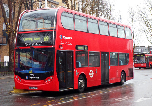 Route 69, Stagecoach London 19000, LX55HGC, Walthamstow