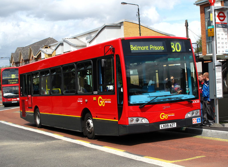 London Bus Routes Route 80 Belmont Prisons Hackbridge