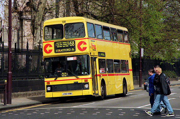 Route 158, Capital Citybus 130, J130YRM, Stratford