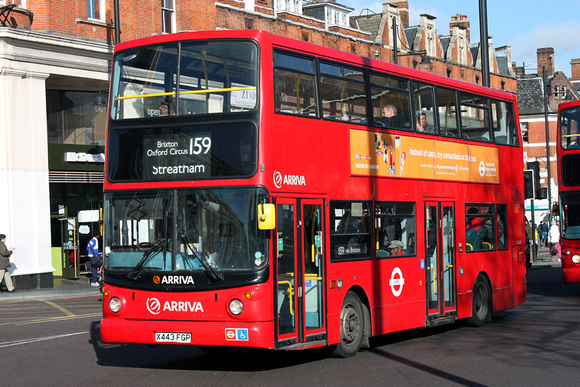 Route 159, Arriva London, DLA243, X443FGP, Brixton