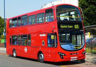Route 105, Metroline, VW1186, LK11CXW, Harlington