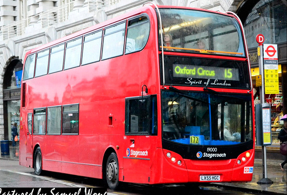 Route 15, Stagecoach London 19000, LX55HGC, Piccadilly Circus