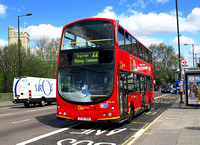 Route 22, Go Ahead London, WVL43, LF52ZRA, Putney Bridge