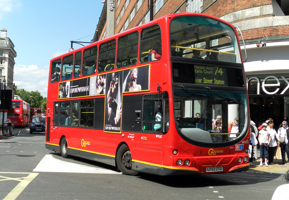 Route 74, Go Ahead London, WVL62, LF52ZTG, Oxford Street