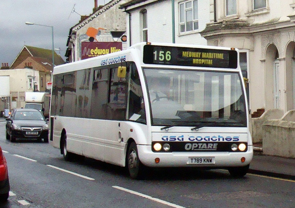 Route 156, ASD Coaches, T789KNW, Gillingham
