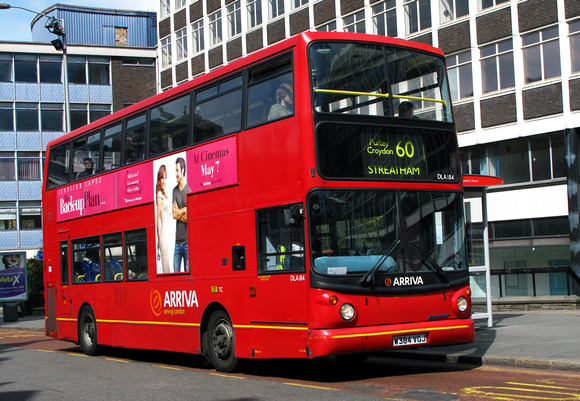 Route 60, Arriva London, DLA184, W384VGJ, Croydon