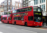 Route 135, Arriva London, T22, LJ08CUV, Liverpool Street