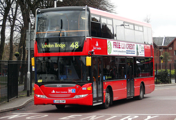 Route 48,East London ELBG 15140, LX59CNF, Walthamstow