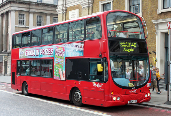 Route 40, Abellio London 9017, BX54DJU, London Bridge