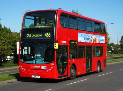 Route 466, Arriva London, T54, LJ08CYG, Addington Village