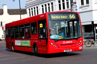 Route 66, Arriva Southend 4070, GN10KWG, Romford Station