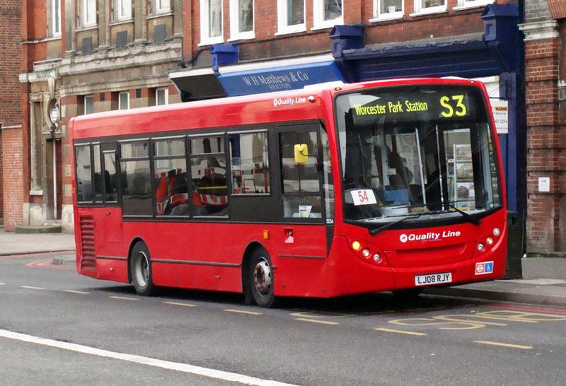 London Bus Routes Route S3 Sutton Hospital Malden Manor