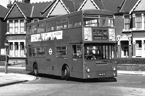 Route 145, London Transport, DMS1617, THM617M, Ilford