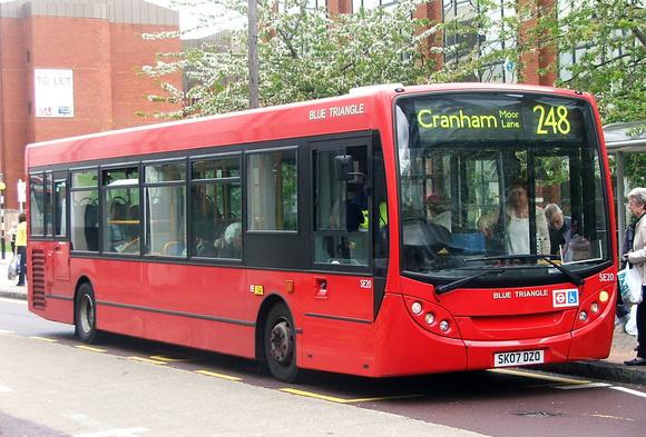 London Bus Routes: Route 248: Cranham - Romford Market &emdash; Route 248, Blue Triangle, SE20, SK07DZO, Romford