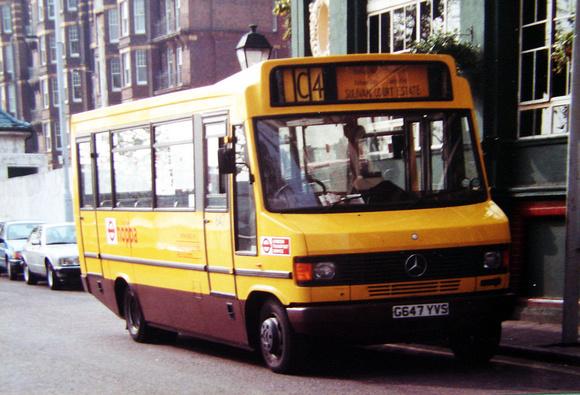London Bus Routes: Route C4: Putney Pier - Hurlingham &emdash; Route C4, London Buslines 647, G647YVS, Putney Pier