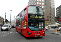 Route 149, Arriva London, DW329, LJ60AXN, London Bridge