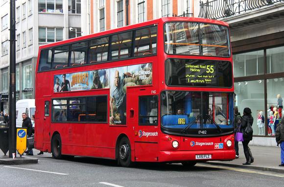 London Bus Routes Route 55 Leyton Bakers Arm S
