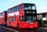 Route 341, Arriva London, T154, LJ60AWC, Waterloo Bridge