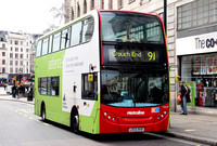 Route 91, Metroline, TE670, LK55KKB at Charing Cross Station