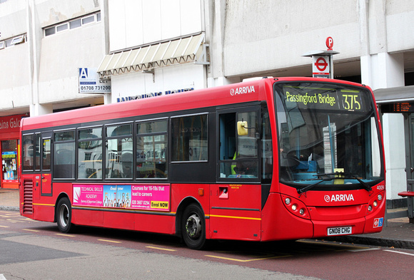 London Bus Routes: Route 375: Passingford Bridge - Romford Station &emdash; Route 375, Arriva Southend 4009, GN08CHG, Romford