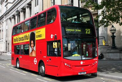 Route 23, Tower Transit, DNH39118, SN12ASO, Trafalgar Square