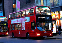 Route 172, Abellio London 9039, BX55XMO, Waterloo Station