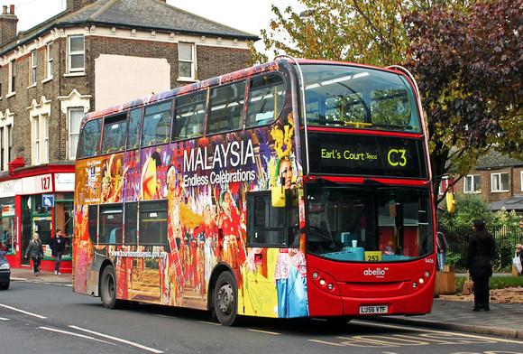 London Bus Routes: Route C3: Clapham Junction - Earl's Court, Tesco &emdash; Route C3, Abellio London 9406, LJ56VTF, Clapham Junction