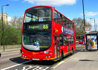 Route 85, Go Ahead London, WVL19, LG02KHU, Putney Bridge