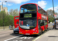 Route 14, Go Ahead London, WVL66, LF52ZTL, Putney Bridge