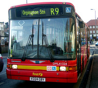 Route R9, First Centrewest, DML41324, V324GBY, Orpington