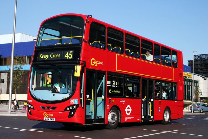 london bus routes route 45 clapham park king 39 s cross route 45 go ahead london wvl445. Black Bedroom Furniture Sets. Home Design Ideas