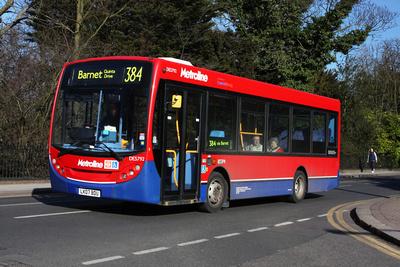 Route 384, Metroline, DES792, LK07DBU, Barnet