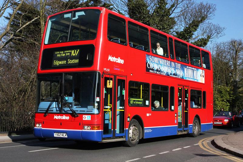 London Bus Routes Route 107 Edgware New Barnet