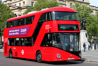 Route 9, London United RATP, LT72, LTZ1072, Trafalgar Square