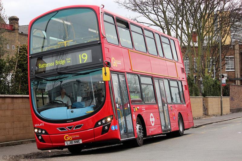 London Bus Routes Route 19 Battersea Bridge South Side