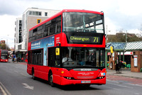 Route 71, London United RATP, SP56, YT09ZCA, Kingston