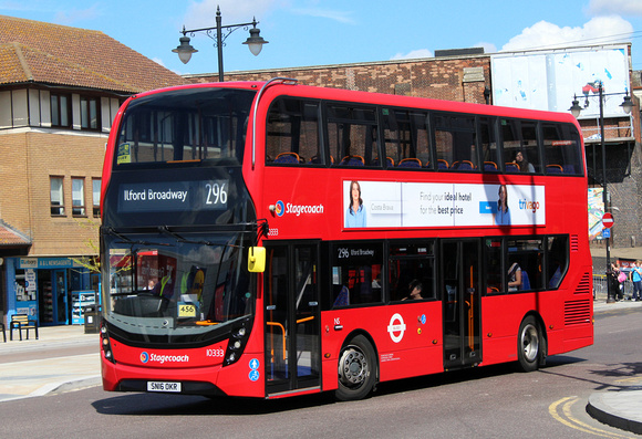 Route 296, Stagecoach London 10333, SN16OKU, Romford